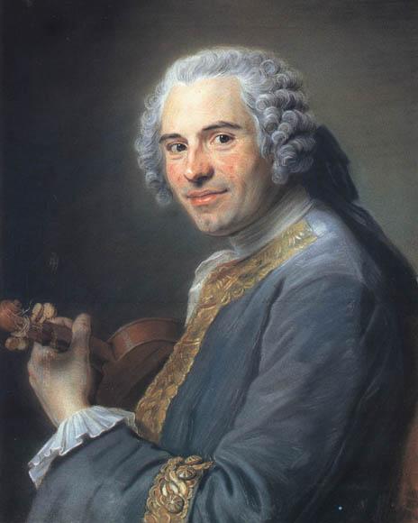Portrait du violoniste narbonnais Jean-Joseph Cassanéa de Mondonville par Maurice Quentin Delatour, Pastel sur papier, 1747. Collection Musée Antoine Lecuyer, Saint-Quentin.