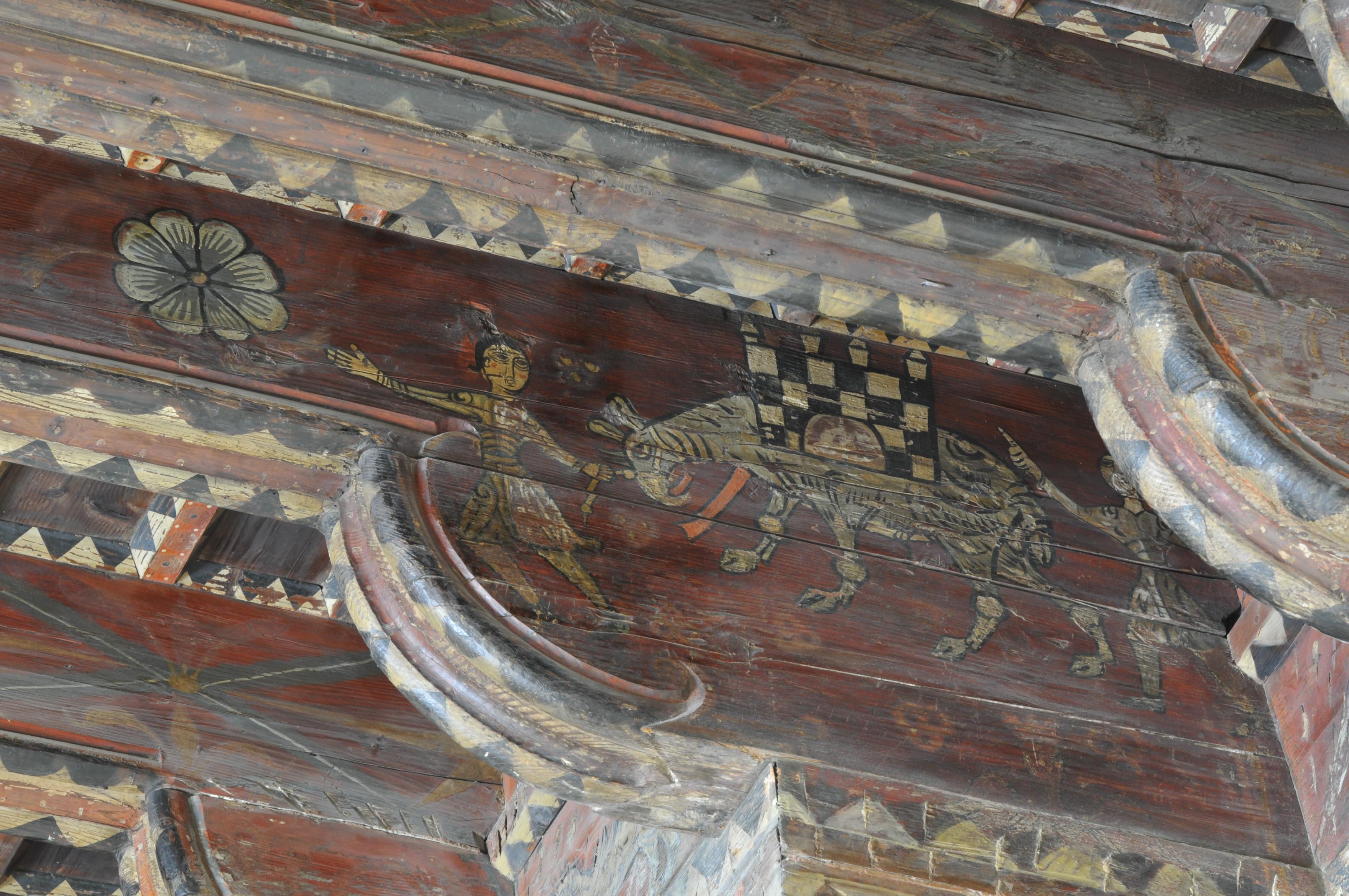Tranche des corbeaux de l'angle Nord-Est représentant un éléphant