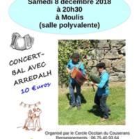 Concert - Bal avec Arredalh à Moulis (09)