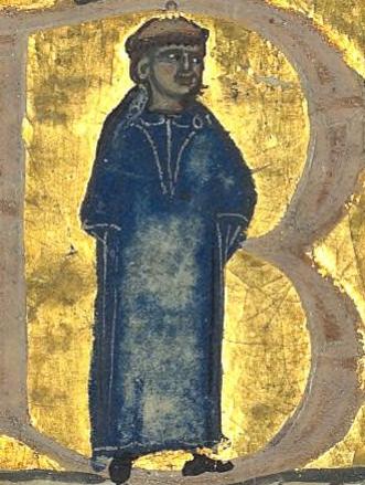 Daude de Prades representé dans le manuscrit Français 12473 feuillet 96v de la Bibliothèque nationale de France