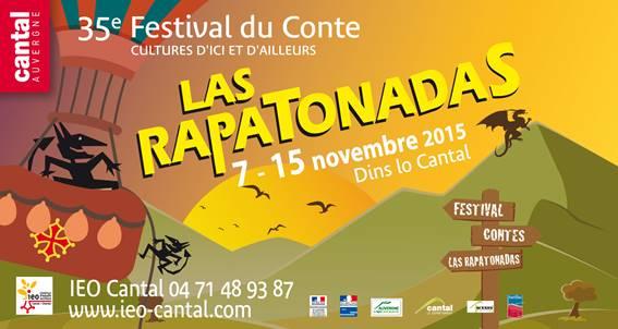 Le « rapaton » est l'emblème du festival des « Rapatonadas » (IEO 15). Affiche de l'édition 2015