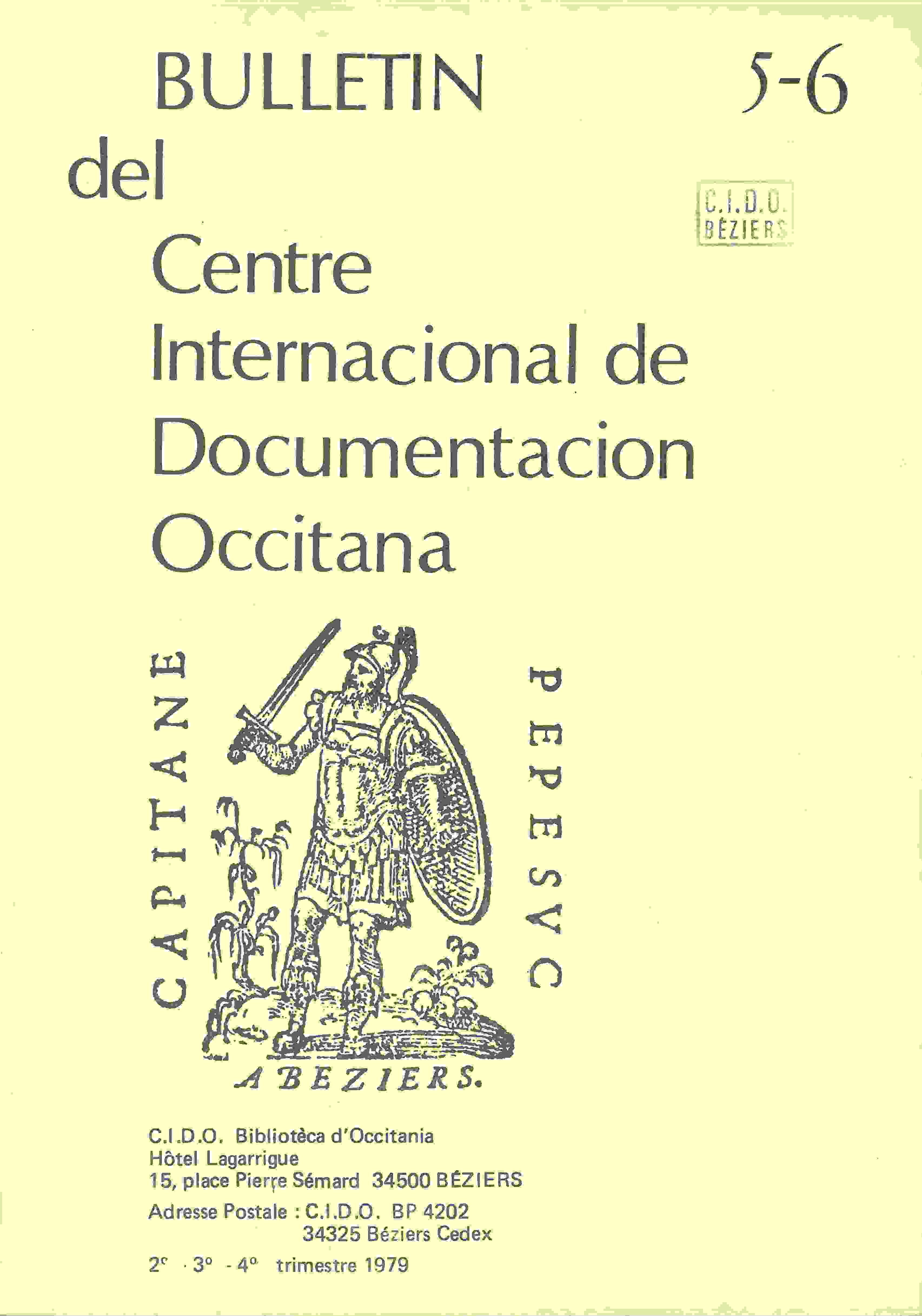 Bulletin del Centre Internacional de Documentacion Occitana publié de 1976 à 1979.