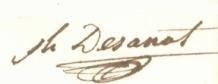 Signature de Joseph Désanat